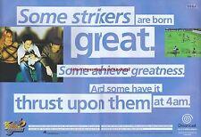 Sega Dreamcast Virtua Striker 2 2000 Magazine 2 Page Advert #4251