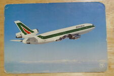 Postcard of Alitalia DC-10  from 1980s Unposted, Aeroplane
