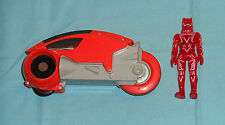 vintage Tomy Tron ORANGE LIGHT CYCLE with SARK action figure