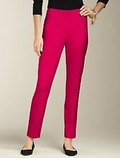 NEW $129 TALBOTS Heritage Fit Fuchsia Italian Stretch Flannel Ankle Pants Sz 4