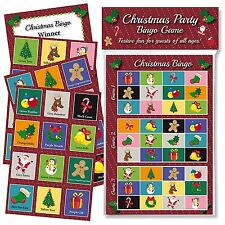 CHRISTMAS PARTY BINGO GAME: FUN & GAMES FOR FAMILY, OFFICE AND KIDS XMAS PARTIES