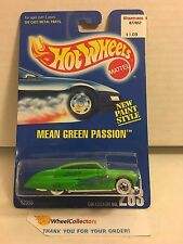 Mean Green Passion #263 * Green * Blue Card Hot Wheels * E38