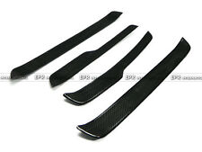 A++  4Pcs Side Door Sill Step Panel Plates Trim For BMW E90 Carbon Fiber Racing