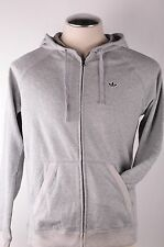 $80 Adidas Originals PBS Full Zip Men's Cotton Hoodie Heather Gray Long Sleeve S