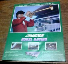 Strata ARLINGTON HORSE RACING Arcade Video Game flyer- original