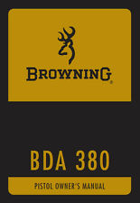 Browning BDA 380 Semi Auto Double Action Instruction and Maintenance Manual