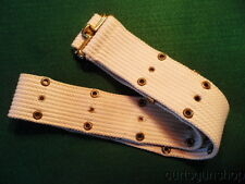 POST WWII - KW US ARMY MP MILITARY POICE WHITE WEB PISTOL BELT
