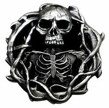Skull Belt Buckle Totenkopf Skeleton Fully 3D Heavy Gothic Official Pagan Buckle