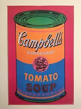 ANDY WARHOL ORIGINAL  OFFSET LITHOGRAPH POSTER CAMPBELLS SOUP CAN