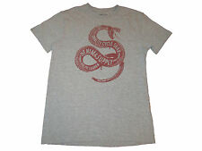Ralph Lauren Denim and Supply Gray Snake Motorcycle Moto Tires T Shirt XL