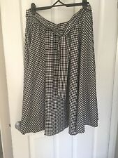 Retro Black Check Full Skirt Size 18/20 Plus Size