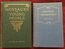 Vintage Ellen G White Books: Messages to Young People ~ The Great Controversy
