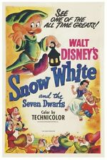 WALT DISNEY'S SNOW WHITE MOVIE POSTER 12X18