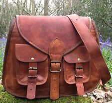 NEW DESIGNER REAL LEATHER SATCHEL SADDLE BAG SHABBY CHIC VINTAGE HAND BAG IPAD