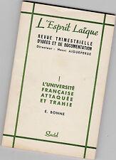 """L'université Française Attaquée et Trahie - """"L'Esprit Laïque"""" N°1 - E.BONNE"""