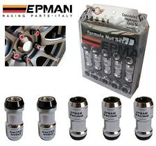 EPMAN Black - 20 M12 x 1.25 ACORN Lug Wheel Nuts Screw Lock Key Toyota Nissan