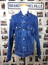 New! Brandy Melville Oversized Blue Amara Denim Jacket Full Length NWT