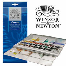WINSOR & NEWTON COTMAN WATER COLOUR PITTURE - 45 Half PENTOLE tavolozza Acquerello