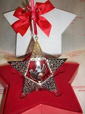 Tipperary Crystal Christmas  Silver Decoration Star with Dove & Crystal