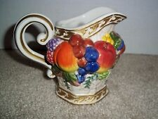 """Fitz and Floyd Fruit Majolica Style 4"""" Pitcher"""