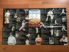 Baseball New York Post YANKEES POSTER World Championships 1923-2000