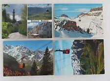 4x Dolomiti Italien Postkarten gelaufen & frankiert ua. Bergbahn Bruneck Brunico