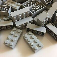 100 NEW LEGO 2x4 Medium Stone Grey Bricks (ID 3001) BULK Blocks gray
