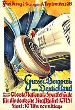 Art Ad Grosser Bergpreis von Deutschland  1935 Auto Car Race Deco Poster Print