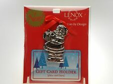 Lenox Holiday Santa Gift Card Holder NEW IN UNOPENED PACKAGE
