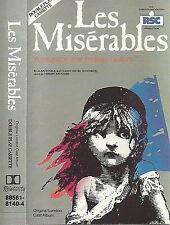ORIGINAL LONDON CAST Les Misérables CASSETTE US ISSUE RELATIVITY LABEL