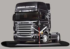 MINIATURE, MODEL CARS, CAMION, TRUCK SCANIA -08 en horloge