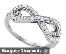 diamond infinity hearts .35 carats 10k gold ring life journey love promise loop