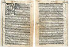 1535 ADAM ET EVA Adamo Eva Peccato originale Original sin Bergomensis xilografia