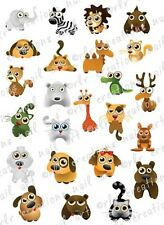 24 CUTE ZOO ANIMALS WATER SLIDE NAIL ART DECALS- GREAT FOR KIDS OR ADULTS