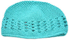 Kufi Hat Crochet Cap Beanie-sea Green