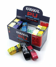 47.98 NEW Karakal PU Replacement Grips Ten. Squ. Bad.BOX of 24 Grips FREEPOST