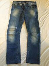 Women's United Color of Benetton Slim Skinny Distressed Jeans Sz 32W 100% cotton