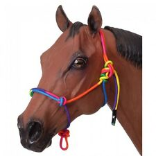Tough-1 Rope Halter -HORSE- RAINBOW COLOR - NWT