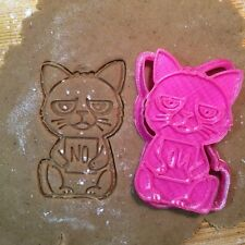 Grumpy Cat cookie cutter - 1 pcs - Plastic 3d printed (PLA)