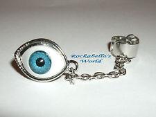 Boucles d'oreille avec borne Oeil Magique Oeil Bleu Evil Eye gothique steampunk