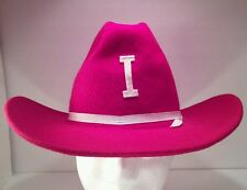 Vintage Red Letter I Patch Rockmount Ranch Wear Western Cowboy Hat Size 6 5/8