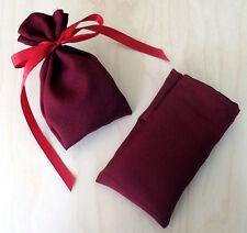 Adventskalender - 24 Stoffsäckchen WEINROT 8x13 - Stoffbeutel Weihnachtskalender
