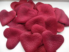 100 QUALITY DEEP RED HEART PETALS/WEDDING/VALENTINE/TABLE/DECORATION/CONFETTI