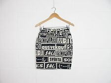 90's Moschino 'Sold Out' Print Skirt 26W