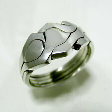 (ROBOT) Unique Puzzle Rings by PuzzleRingMaker - 925 Silver - Any Size