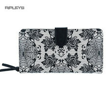 Iron Fist Gothic WALLET Purse  MIDNIGHT WIDOW Webs Skulls Lace