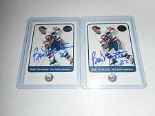 2001-02 Fleer Greats of the Game #4 Bob Nystrom Autographed card