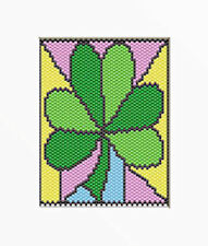 SHAMROCK FOR ST. PATRICKS DAY~LARGE PONY BEAD BANNER PATTERN ONLY