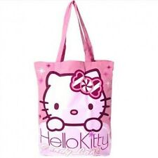 Genuine Sanrio Hello Kitty 'Candy Lane' Cotton Tote Shopping Bag Travel Bag Gym