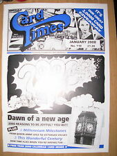 CARD TIMES MAGAZINE FORMERLY CIGARETTE CARD MONTHLY No 118 JANUARY 2000